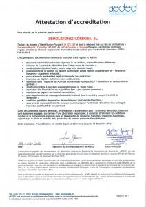 Certificado Acreditación AEDED-PAE-01:2014