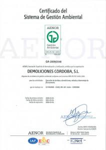 Certificado GA-2009/0148
