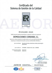 Certificado ER-0252/2009 - 001/00